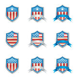 Patriotic Shields Royalty Free Stock Images
