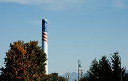 Patriotic smokestack Stock Images