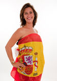Patriotic Spanish woman Stock Photo