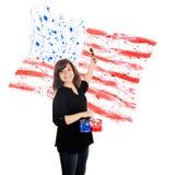 Patriotic Splatters Royalty Free Stock Image