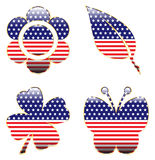 Patriotic Spring Shapes Royalty Free Stock Photos