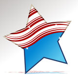 Patriotic Star Stock Photo