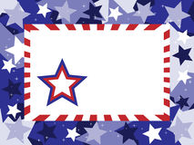 Patriotic Star Background. Illustration of red, white and blue star background Stock Photos