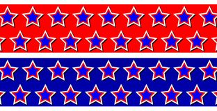 Patriotic Star Backgrounds Royalty Free Stock Images