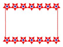 Patriotic Star Border. Red, white and blue stars border this digitally created image, with room for copy Stock Photography