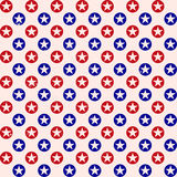 Patriotic star dots pattern background Stock Photography