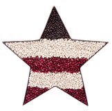 A patriotic star made of beans Stock Photos