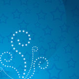 Patriotic Star Swirl Background Royalty Free Stock Photo
