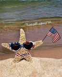Patriotic Starfish Royalty Free Stock Photos