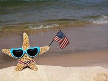 Patriotic Starfish Stock Images