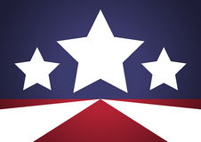 Patriotic Stars Background Stock Photography
