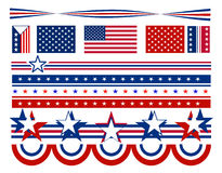 Patriotic Stars and Bars - USA Stock Photos