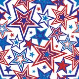 Patriotic Stars Illustration. Illustration of red and blue stars with grunge effect on white background Royalty Free Stock Image