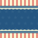 Patriotic stars and stripes background Royalty Free Stock Photos