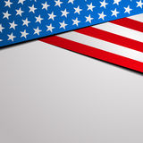 Patriotic stars and stripes background. Detailed illustration of a stylized patriotic stars and stripes background Stock Image