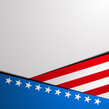 Patriotic stars and stripes background. Detailed illustration of a stylized patriotic star background Stock Photo
