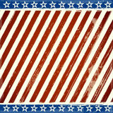 Patriotic stars and stripes background with grunge Royalty Free Stock Photography