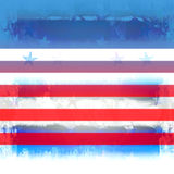 Patriotic Stars And Stripes Grunge. Red, white, and blue patriotic grunge design with stars and stripes Stock Photography