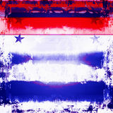 Patriotic Stars And Stripes Grunge. Red, white, and blue grunge design with stars and stripes Stock Image