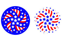Patriotic Stars And Stripes Logos Royalty Free Stock Photo