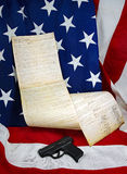 Patriotic Still Life with Constitution Royalty Free Stock Images