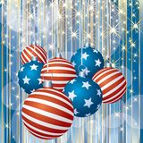 Patriotic stripped Christmas Royalty Free Stock Photo