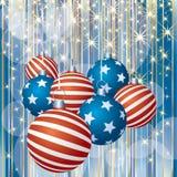 Patriotic stripped Christmas royalty free illustration