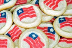 Patriotic sugar cookies stock image