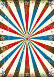 Patriotic sunbeam vintage background Stock Photography