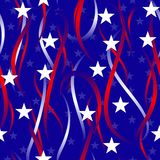Patriotic swirls and stars Stock Photography