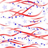 Patriotic swirls and stars Stock Image