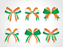 Patriotic symbolic bow of india solated on white Royalty Free Stock Images