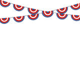 Patriotic symbolic decoration for holiday Usa. National flag col Royalty Free Stock Photography