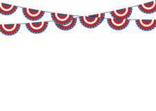 Patriotic symbolic decoration for holiday Usa. National flag col Stock Images