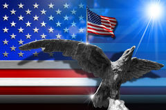 Patriotic Symbols of the USA Stock Images