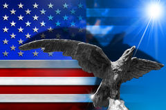 Patriotic Symbols of the USA Stock Image