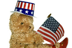 Patriotic Teddy Royalty Free Stock Photo