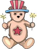 PATRIOTIC TEDDY BEAR Stock Photography