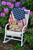 Patriotic teddy bears Stock Image