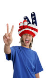 Patriotic Teen - Goofy Stock Photography