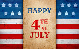 Patriotic 4th of July background. Fourth of July patriotic banner, american flag background Stock Photo
