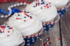 Patriotic 4th of July celebration cupcakes Royalty Free Stock Images