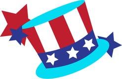 Patriotic Top Hat Stock Photo