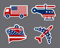 Patriotic Transportation Stickers Royalty Free Stock Image