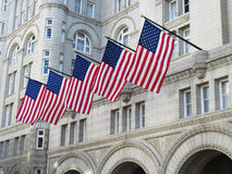 Patriotic Trump International Hotel Stock Images