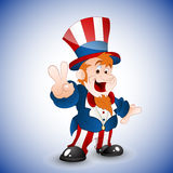 Patriotic Uncle Sam Vector Illustration Royalty Free Stock Image