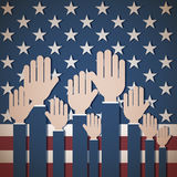 Patriotic Us Voting Background Royalty Free Stock Photography