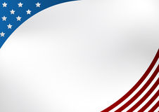 Patriotic USA Background. A color Patriotic Background image with stars and stripes Stock Photography