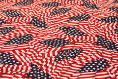 Patriotic USA background - American flags Royalty Free Stock Photography