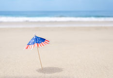 Patriotic USA background with starfishes Stock Photography